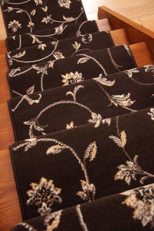 Pin By Erin Grigson On Rugs Floral Carpet Carpet Stairs Carpet | Floral Carpet For Stairs | Modern | Brown Pattern | Pattern | Laminate | Diamond Pattern