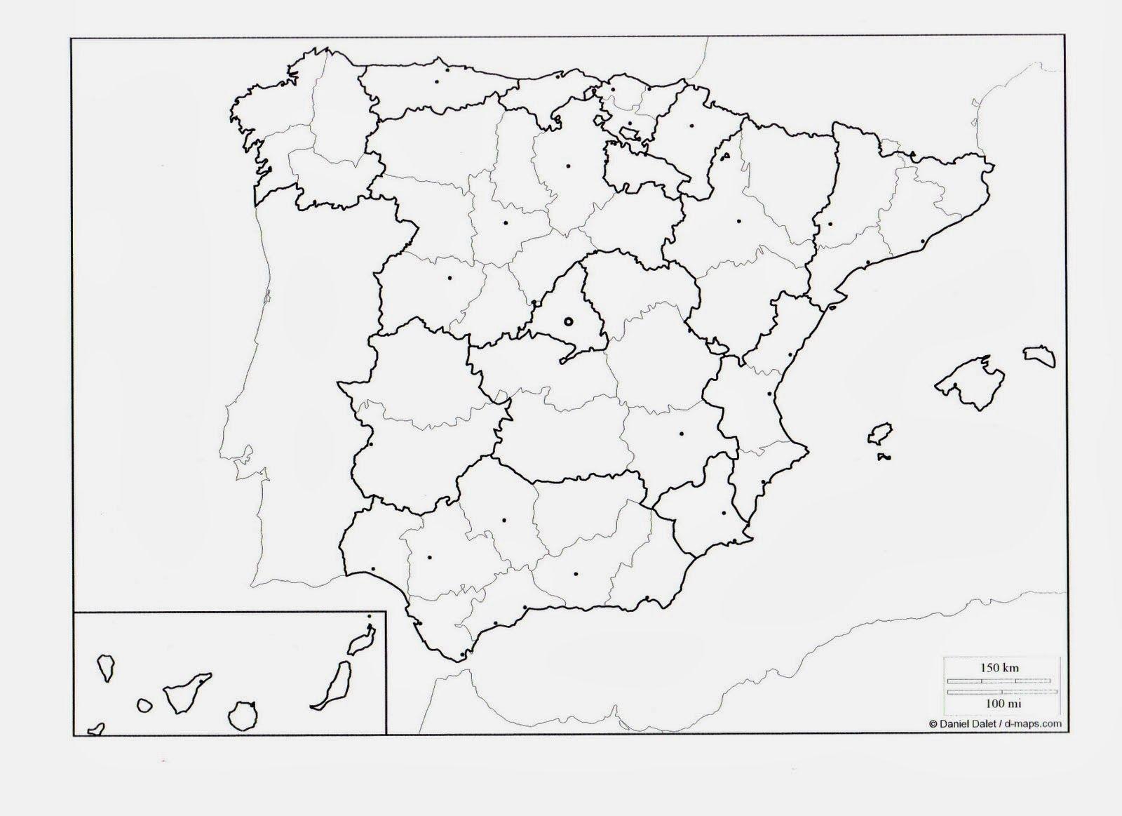 Mapa Politico De España Para Rellenar Mapas Mapa De España Mapa Politico