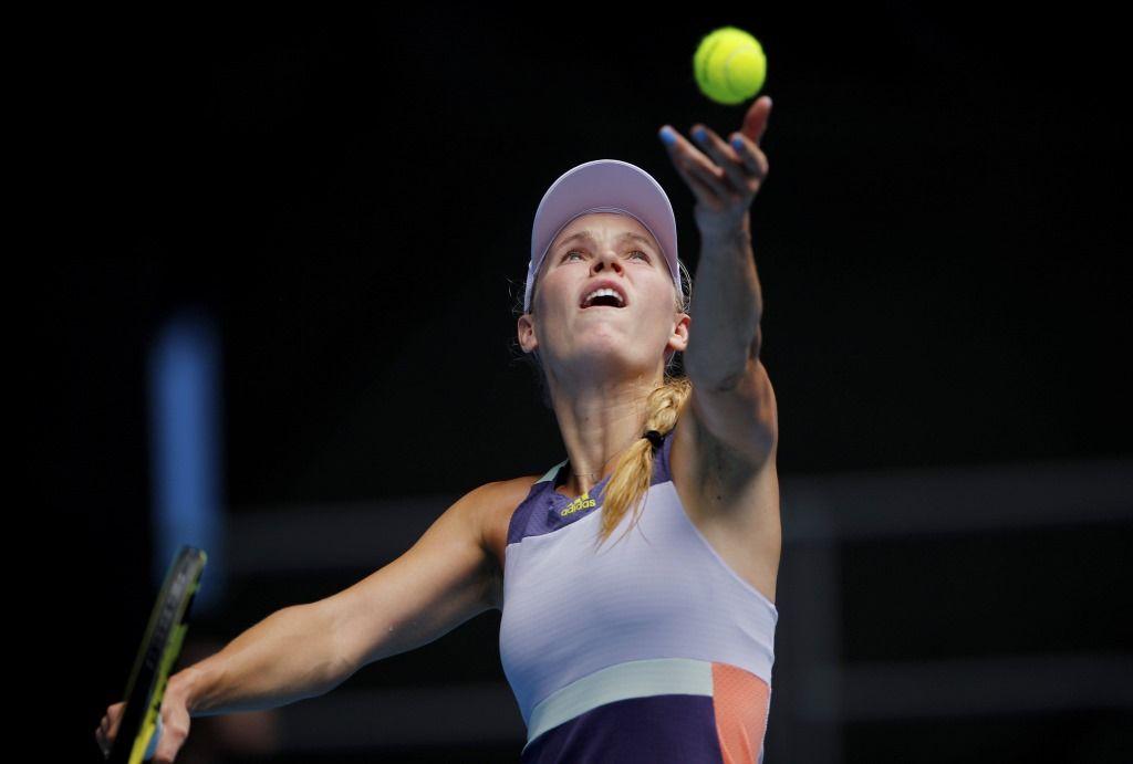 Caroline Wozniacki Played Tennis Tournament 2020 Australian