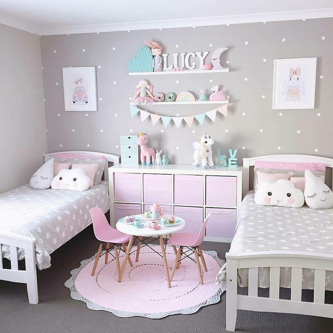 Pin de mareug cc en dormitorios pinterest bedroom for Decoracion sencilla habitacion nina