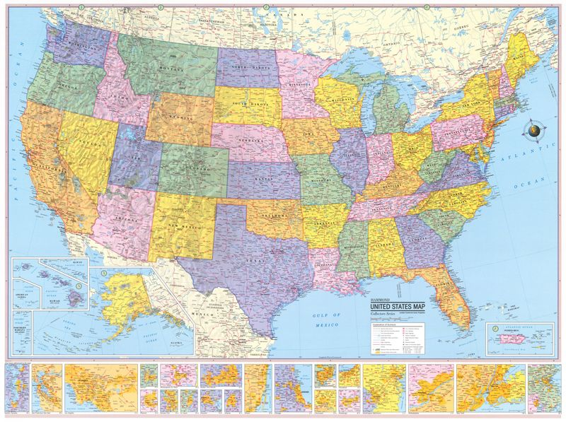 Hi Res Us Map Full Map of US, High Res Image | Us map, Map, Wall maps