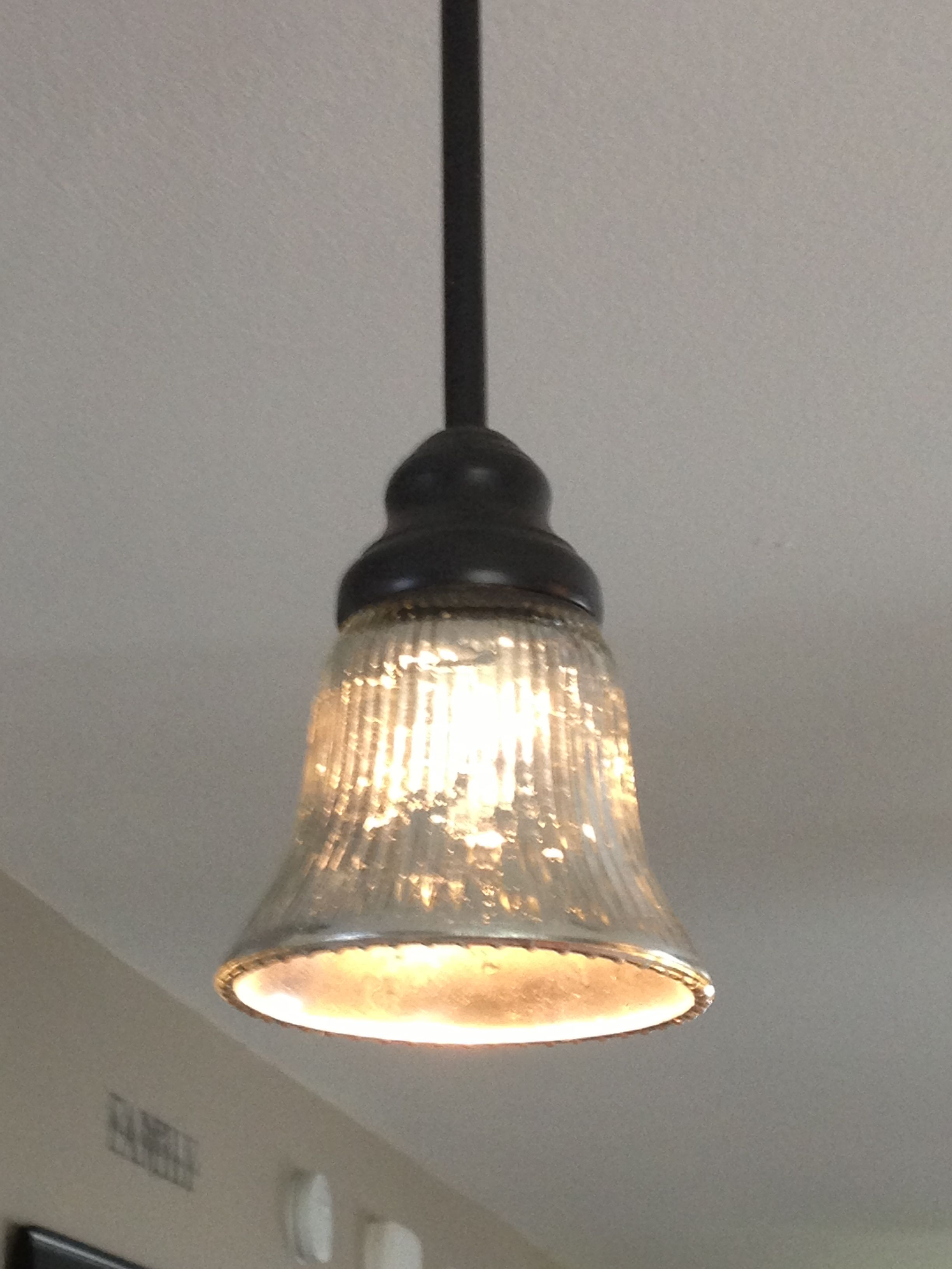 DIY mercury glass pendant shade - Krylon Looking Glass spray paint
