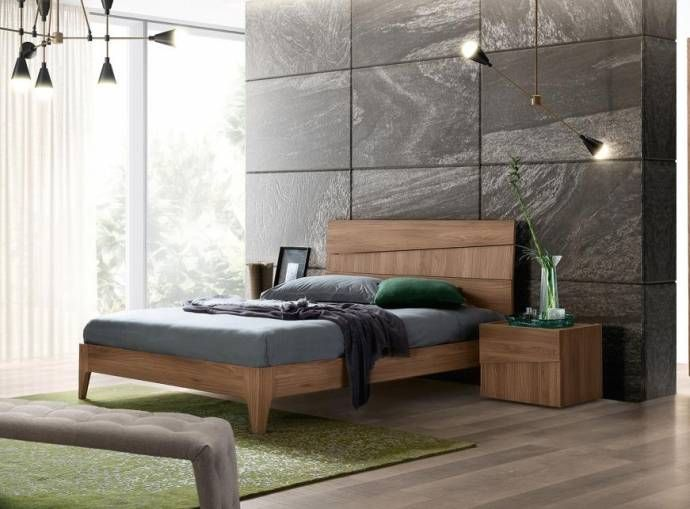 Best Ash Grey Walnut Matte King Bedroom Set 3Pcs Modern Made In 400 x 300