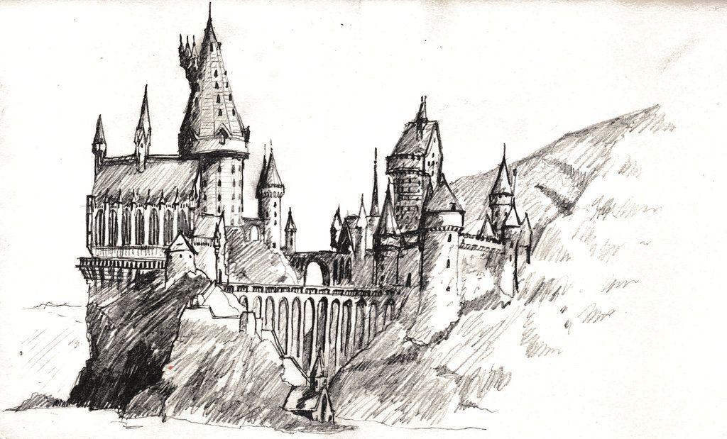 Hogwarts Zeichnung Hogwarts Fanart Harry Potter Harry