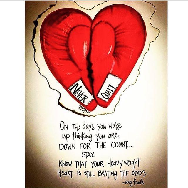 Heavyweight heart. #holdon @ang.frank #angfrank #acsparks #acsparksart #keepgoing #poetryislove #artistofinstagram