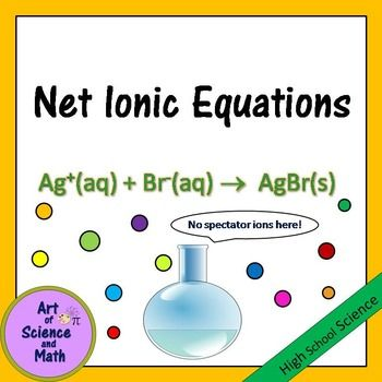 Net Ionic Equations - High School Science | Chemistry: Art