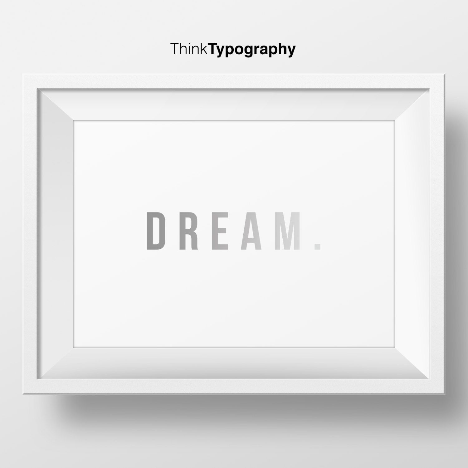 Dream, Inspirational quote, typography wall art, wall art, motto print, graphic design, inspirational, gradient, art print, typography print by ThinkTypography on Etsy