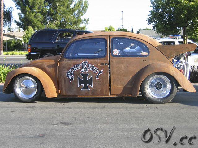 Turbo vw drag bug rat built on the tv series monster garage hosted by jesse james vw rat - Garage volkswagen orleans ...