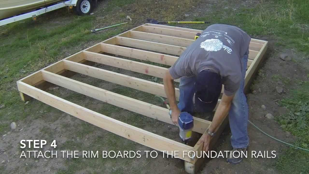 How to build a shed part 2 floor framing