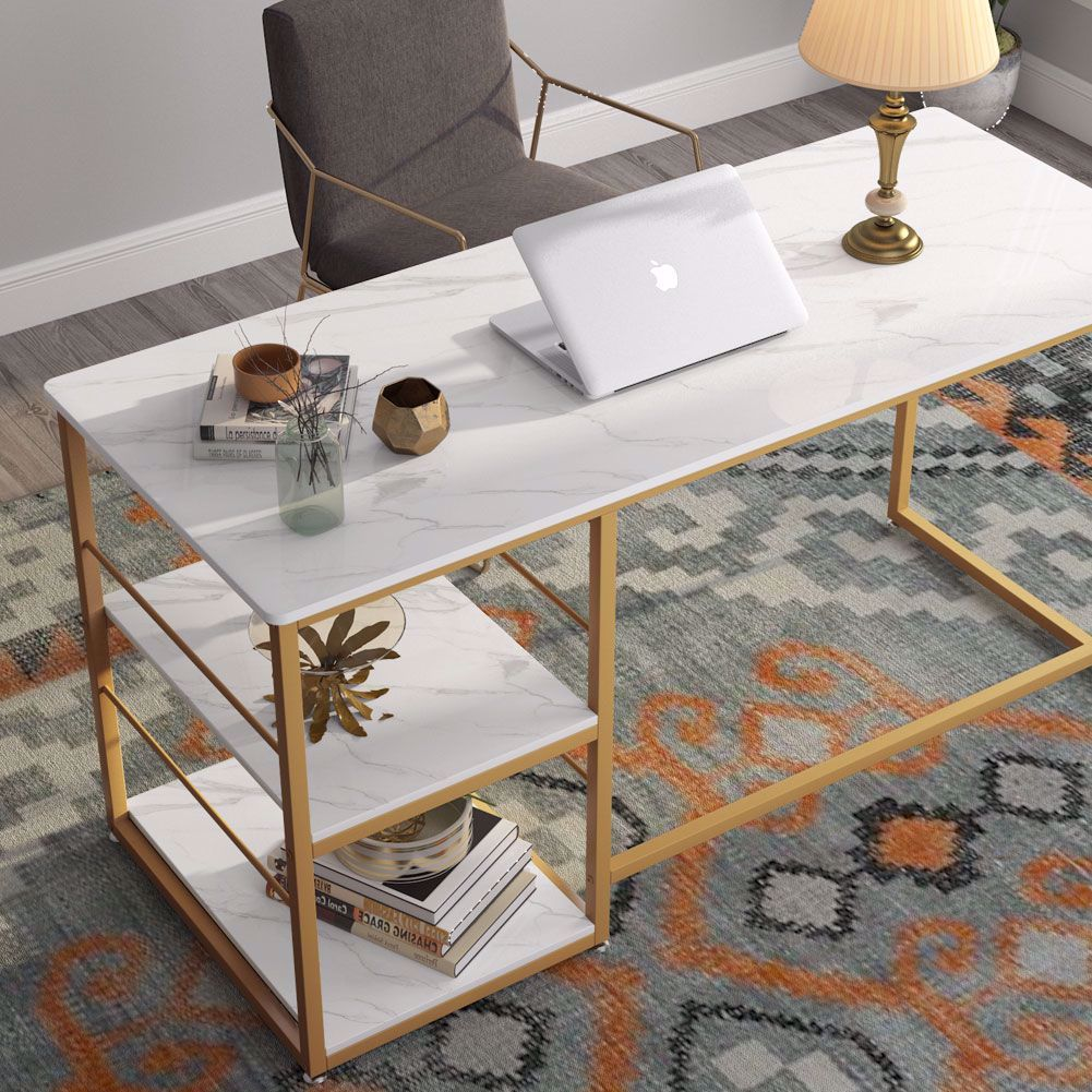 A Modern Take On A Classic Design This Clean Lined Desk Make The Perfect Spot For Study In 2020 Modern Home Office Desk Office Furniture Modern Computer Table Modern
