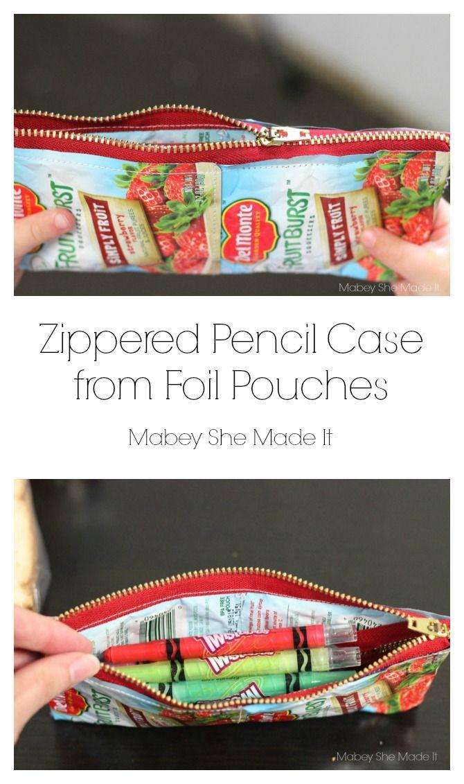 Back to School Pencil Case   recycled stuff   Pinterest   Estuche ...