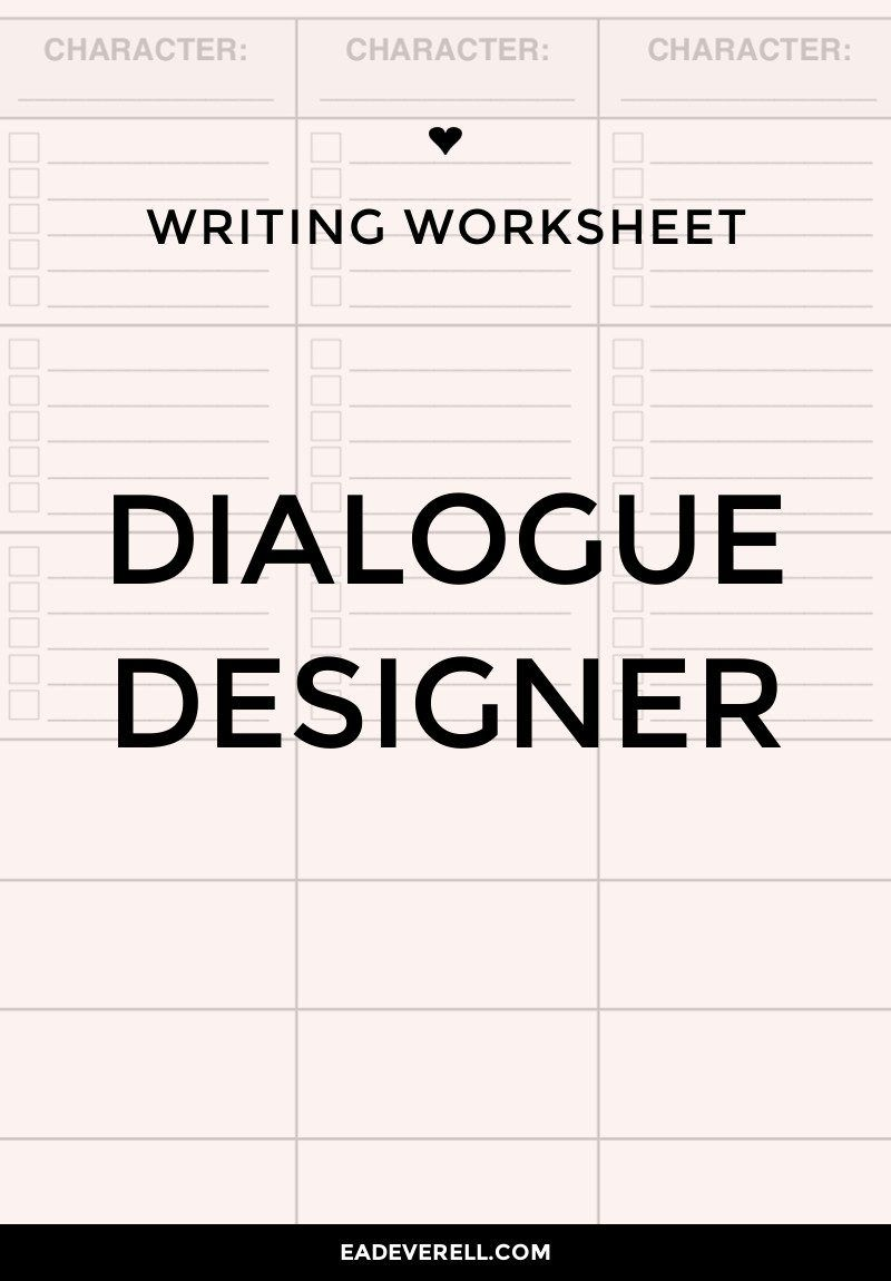 Predownload: Dialogue Worksheet Writing Dialogue Writing Prompts For Writers Book Writing Tips [ 1150 x 800 Pixel ]