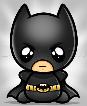 How To Draw Kawaii Batman Hobby In 2019 Zeichnungen Superhelden