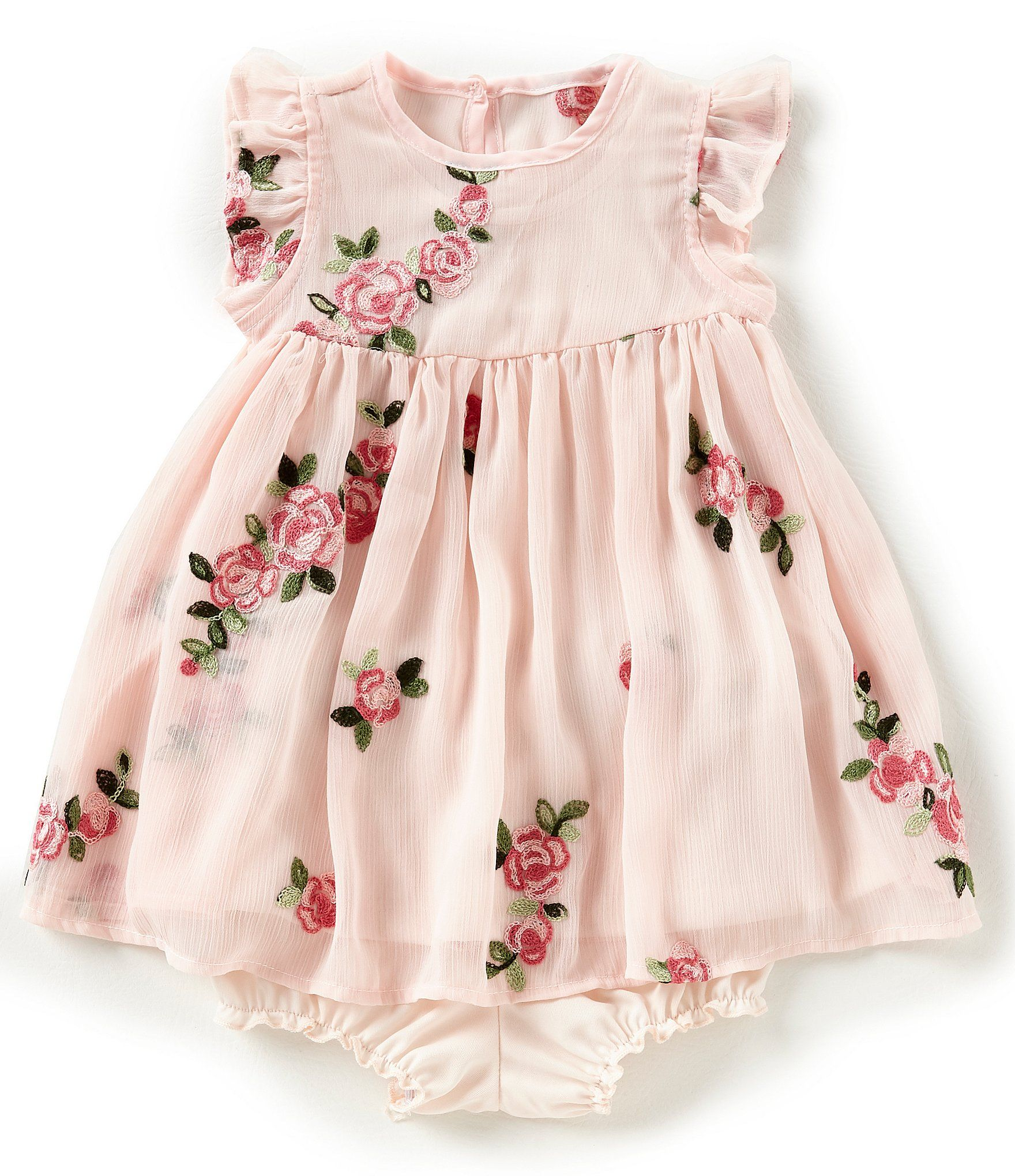 Pippa & Julie Baby Girls 12 24 Months Floral Embroidered Dress