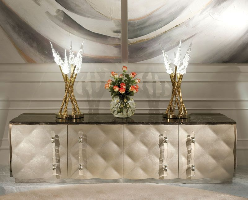 Nice Credenzas Sideboards   MURANO GLASS AND MARBLE SIDEBOARD ART WM 13400B