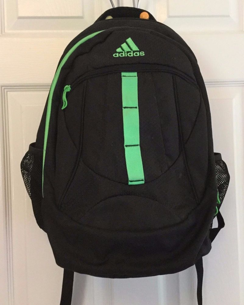 6462648c113 Adidas Prime XL Backpack Laptop Case Black Bright Green Accents RN 90288   adidas…