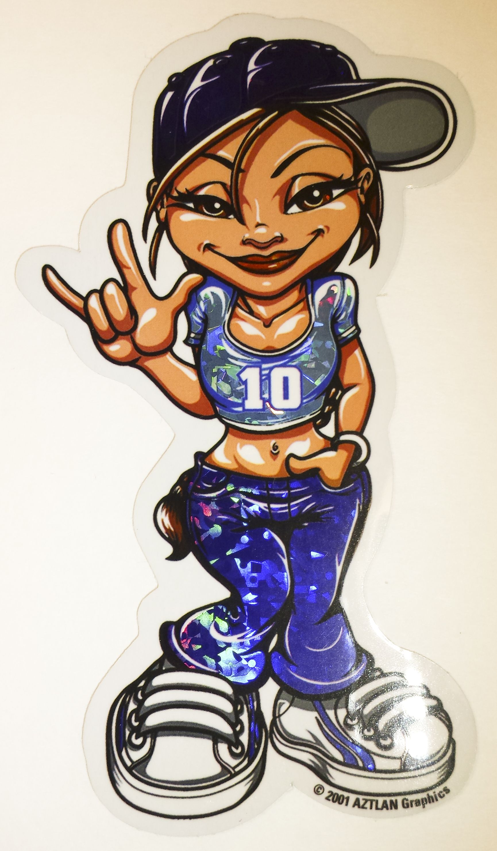 Hip hop girl sticker shes a 10
