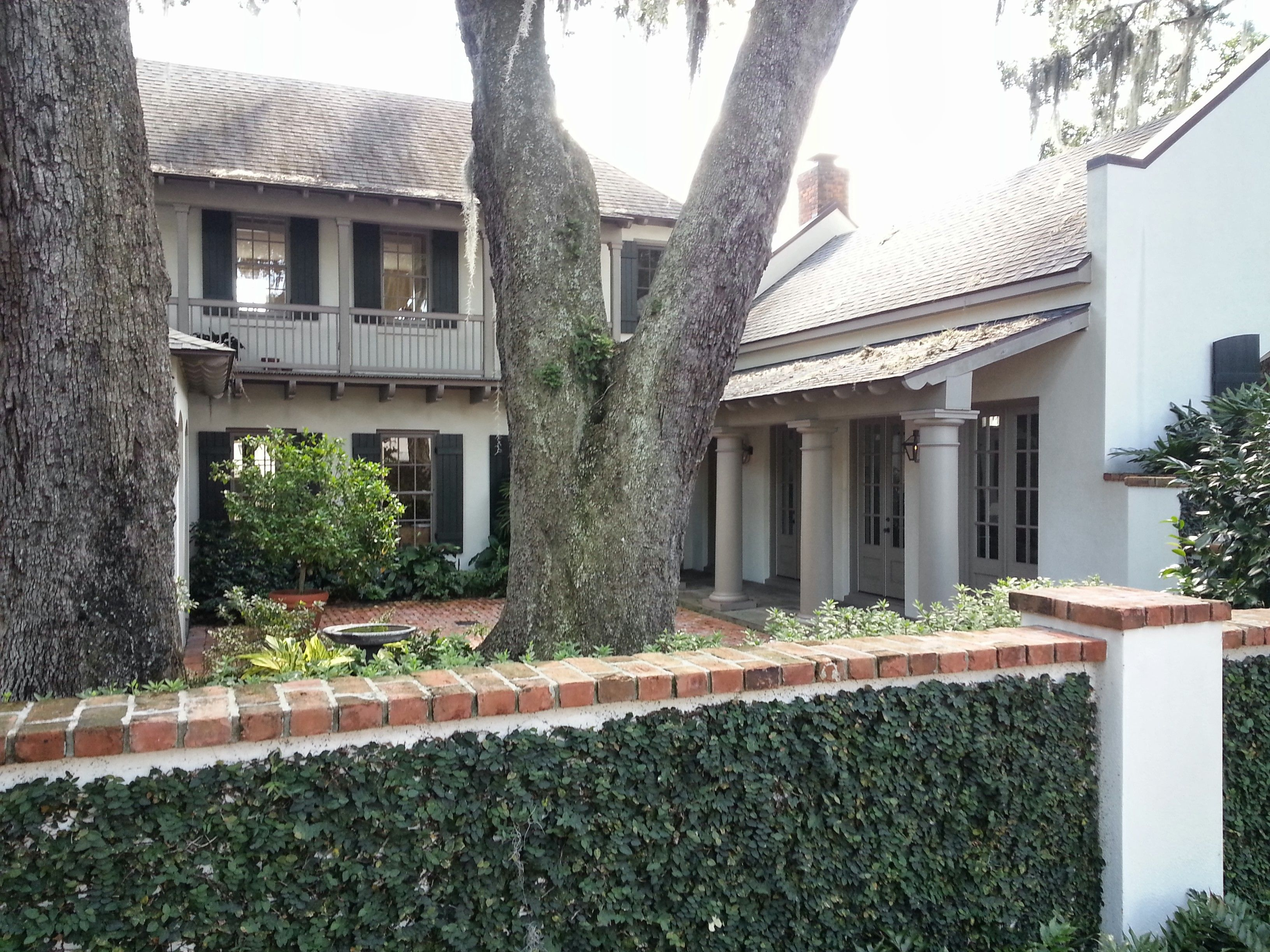New Orleans Courtyard Home Courtyard House Architecture Plan Design