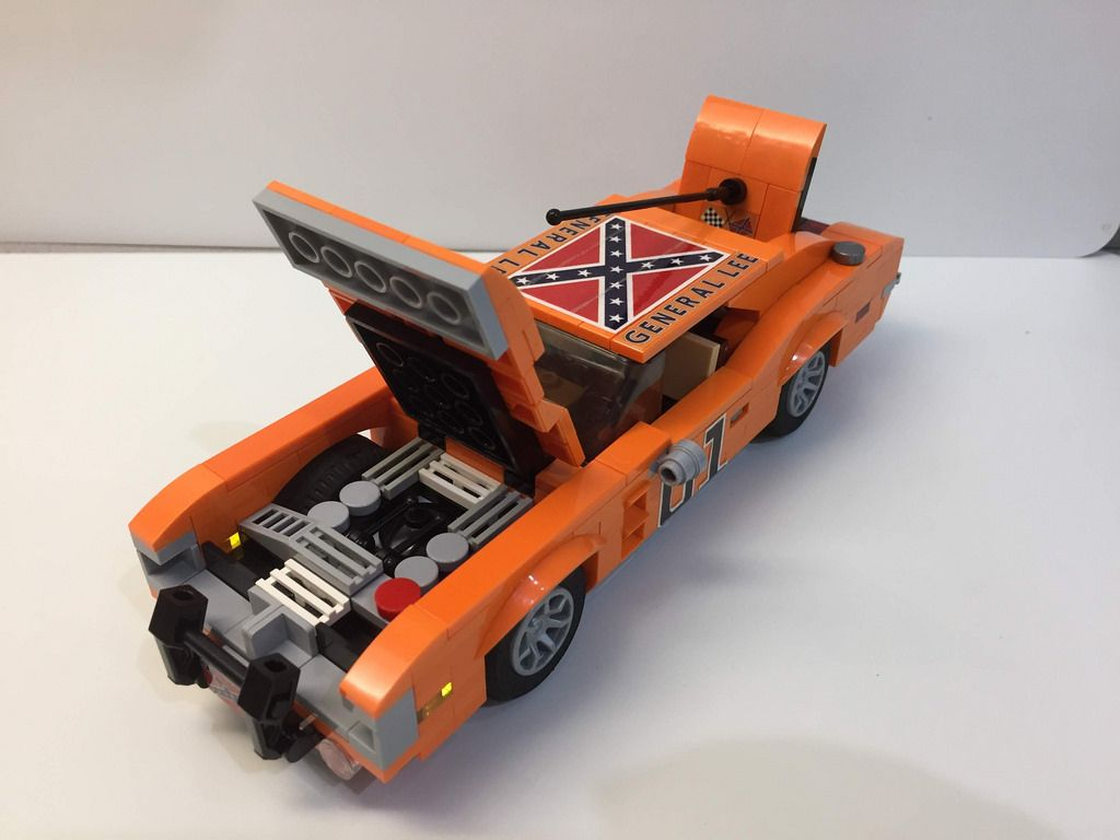 Lego Moc 18690 The Dukes Of Hazzard Cars General Lee Boss 1 Creator 2018 Rebrickable Build With Lego Lego Wheels Lego Cool Lego