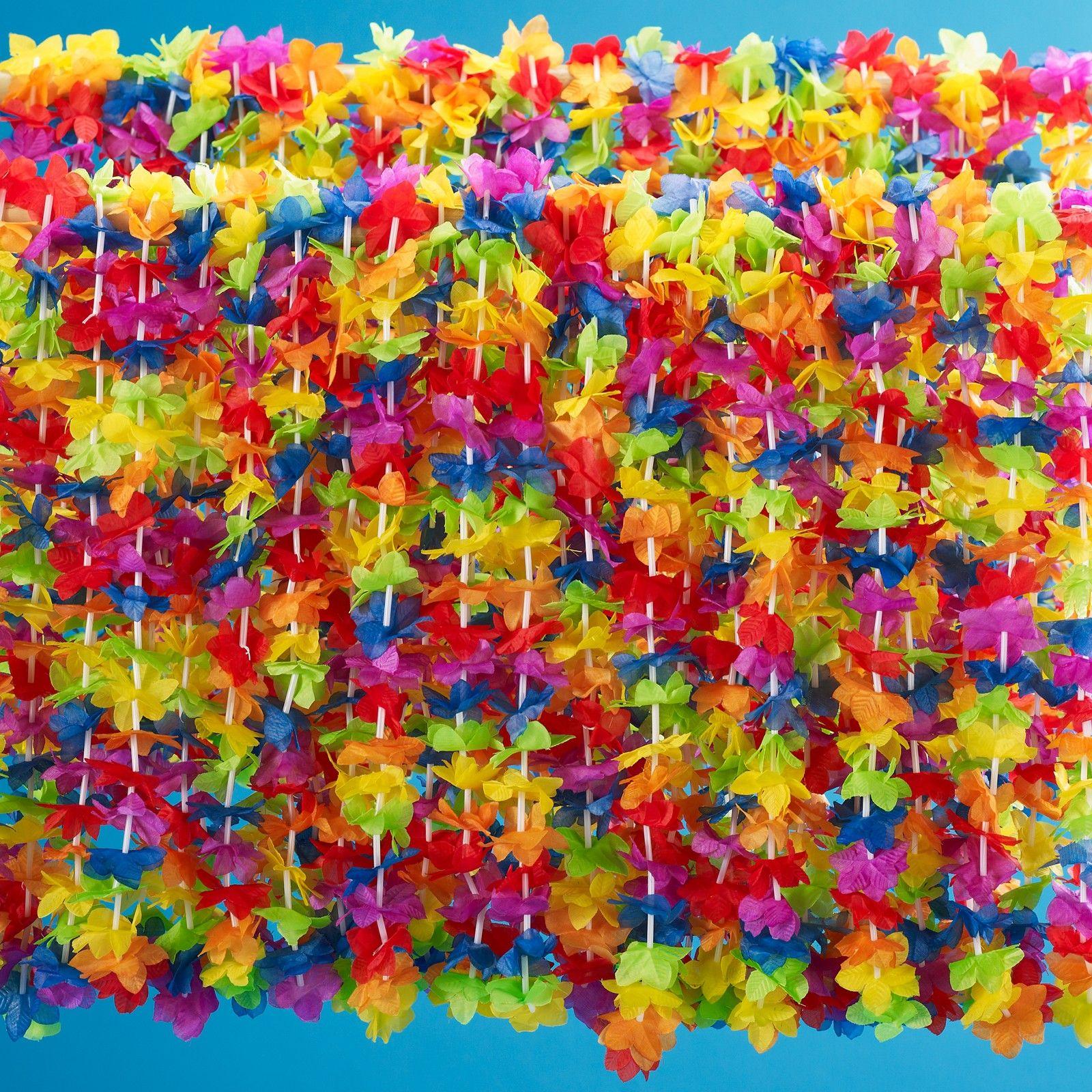 Rainbow Floral Leis