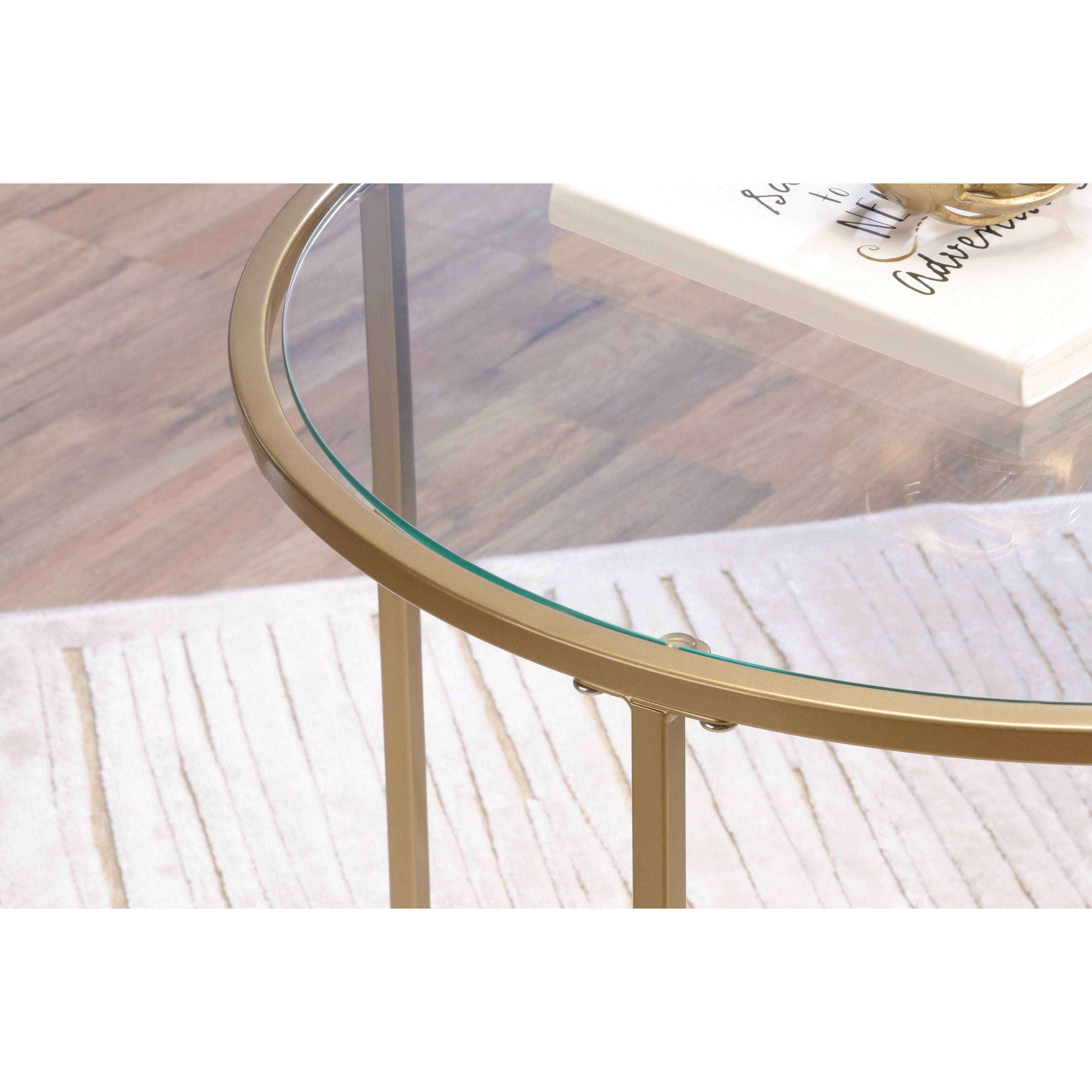 Sauder International Round Lux End Table