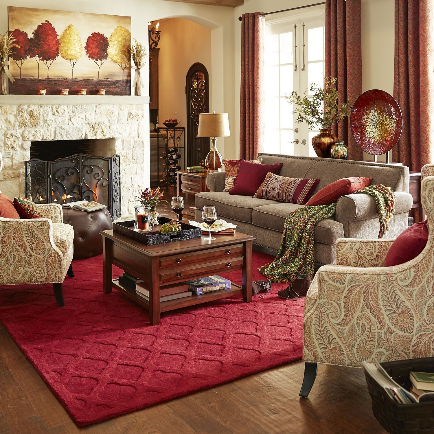 Taupe Room Color Schemes With White Chairs Taupe Living Room Beige Living Rooms Interior Design Living Room