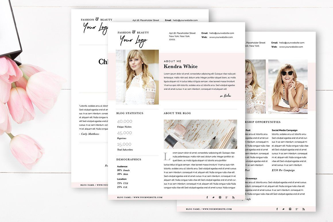 5 Modern, Easy-to-Edit Media Kit Templates For Bloggers