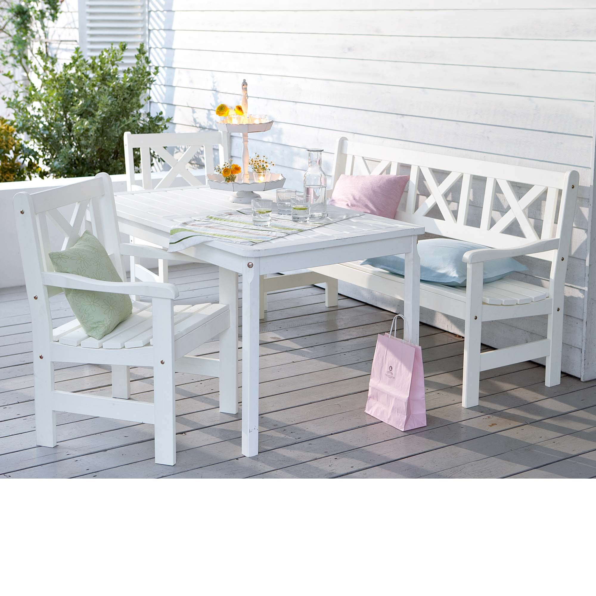 Spar Set bestehend aus Bank und Tisch sowie Stuhl Set Details Maße Gartenbank x x cm Tisch 135 x 77 x 72 cm Stuhl 57 x 58 x 89