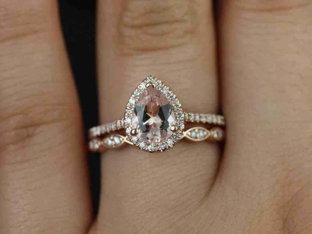 Rose Gold Wedding Band With Platinum Engagement Ring Halo Wedding Set Antique Wedding Rings Wedding Rings Vintage