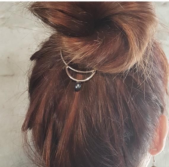 Hair Bun Jewelry Pearl Hair Cuff Boho Hair Accessories | Etsy