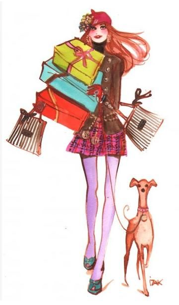 Bendel's GirlHenri Bendel #henribendel #illustrations #wendyheston likes #shopbendel #charmiesbywendy loves #henribendelilustrations