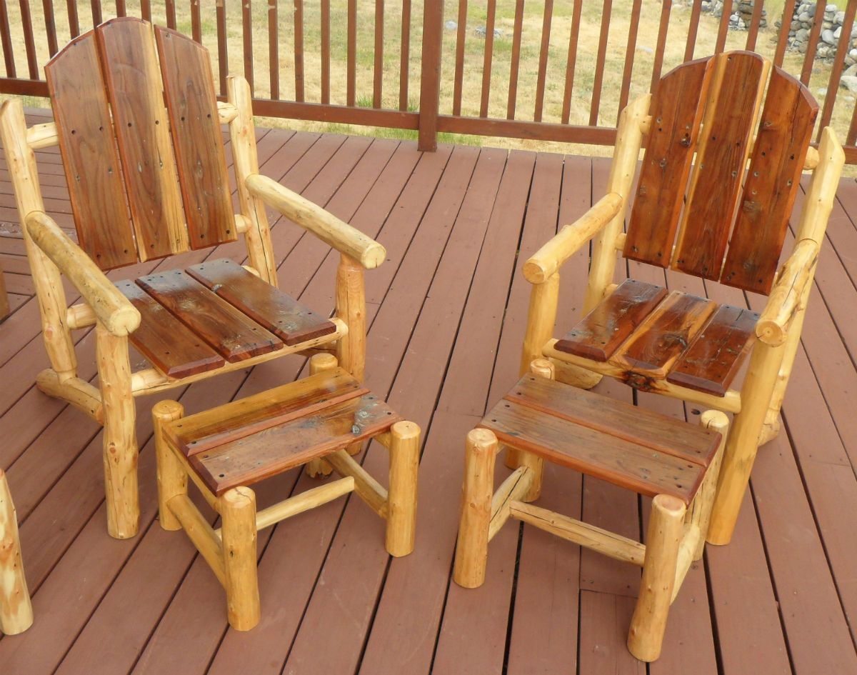 Log Adirondack Chair