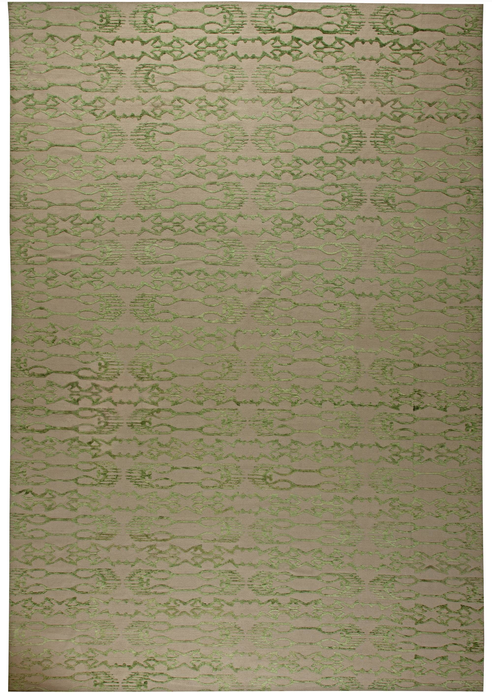 Contemporary Rugs Rug In Green Modern Style Perfect For Interior Decor Living Room Geometric Pattern