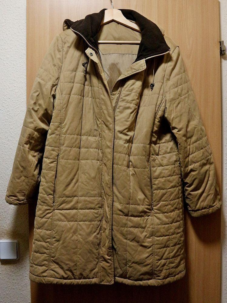 Details zu Style Tolle oliv grüne Velour Winter Jacke Gr.46