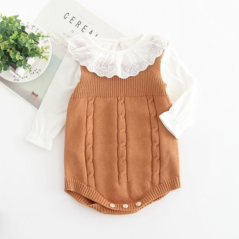 Photo of Sleeveless Knitted Autumn Romper