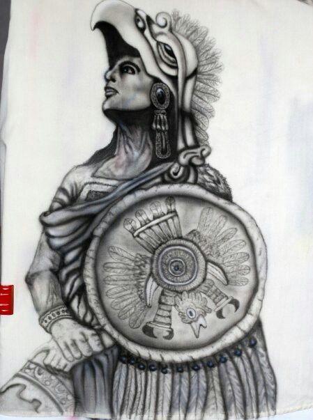 guerrero aguila sobre tela aerografia pinterest