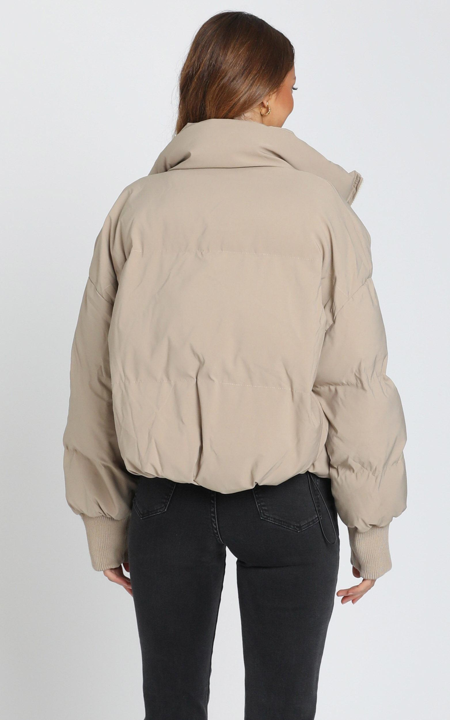 Windsor Puffer Jacket In Beige Showpo Beige Puffer Jacket Jackets Beige Puffer [ 2500 x 1563 Pixel ]