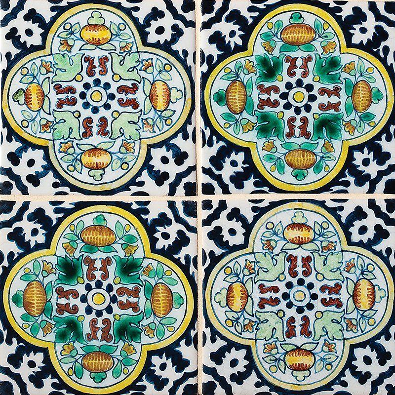 Moorish Poly Glazed Ceramic Tiles 5x5 - Country Floors of America LLC.
