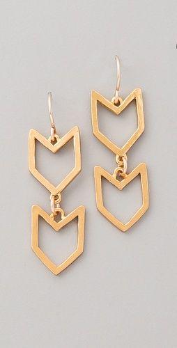 Cute chevron earrings