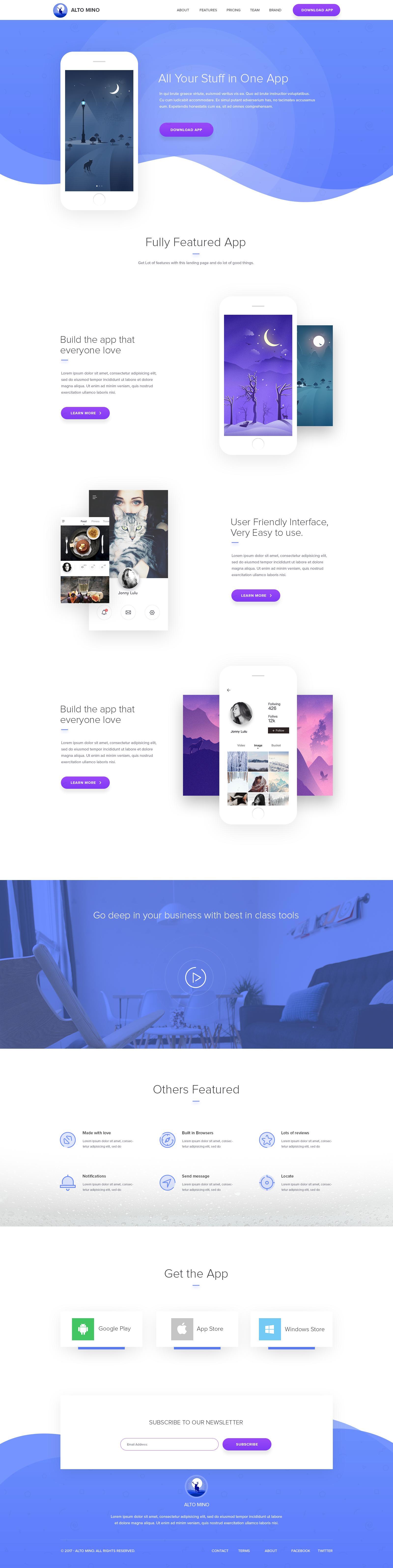 Landing Page Design For Mobile App Web Layout Design Web Design Trends Page Design
