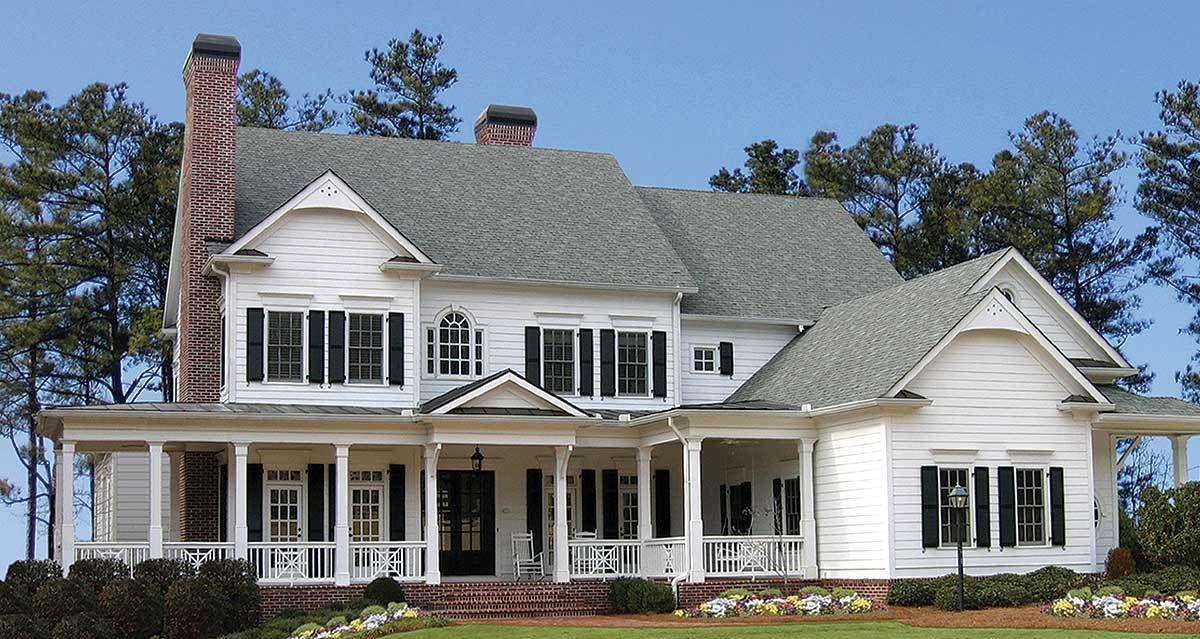 Plan 15754GE Luxurious Farmhouse Plan Farmhouse plans