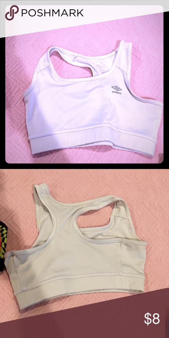 9487f4b867e6d Sports bra umbro white medium Umbro sports bra size medium Umbro Intimates    Sleepwear Bras