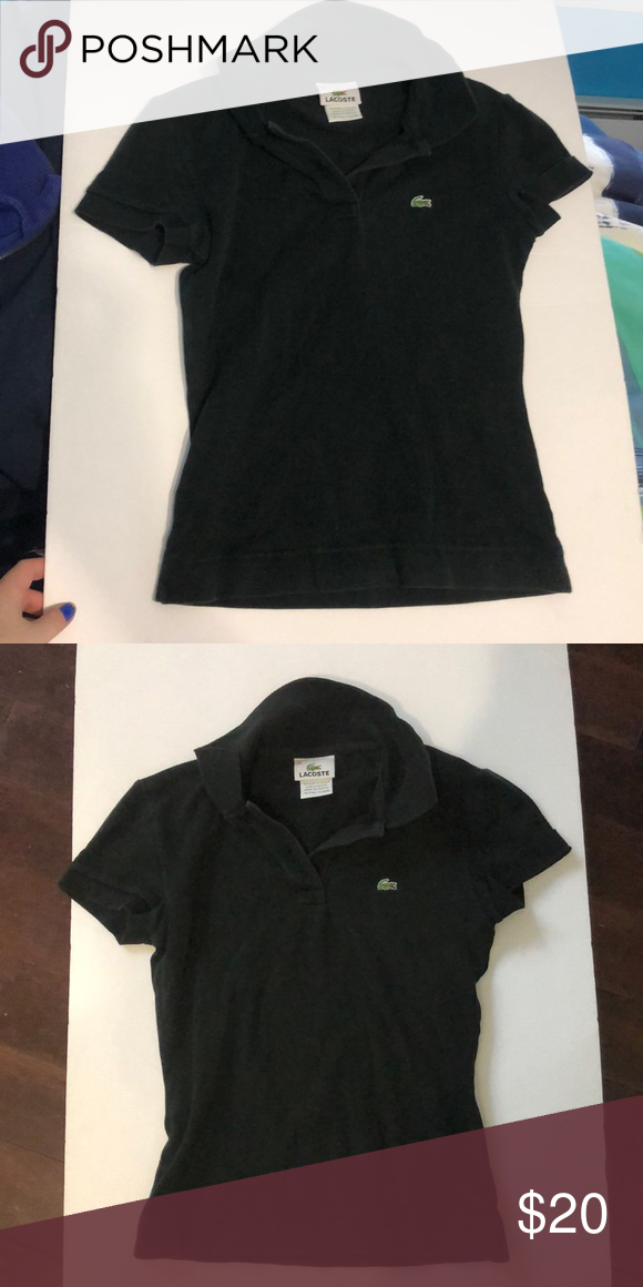 ac0412a7ee Lacoste black short sleeve polo size 36! Never worn and in perfect  condition. Had the little logo. Lacoste size 36 which according to their  size charts is a ...