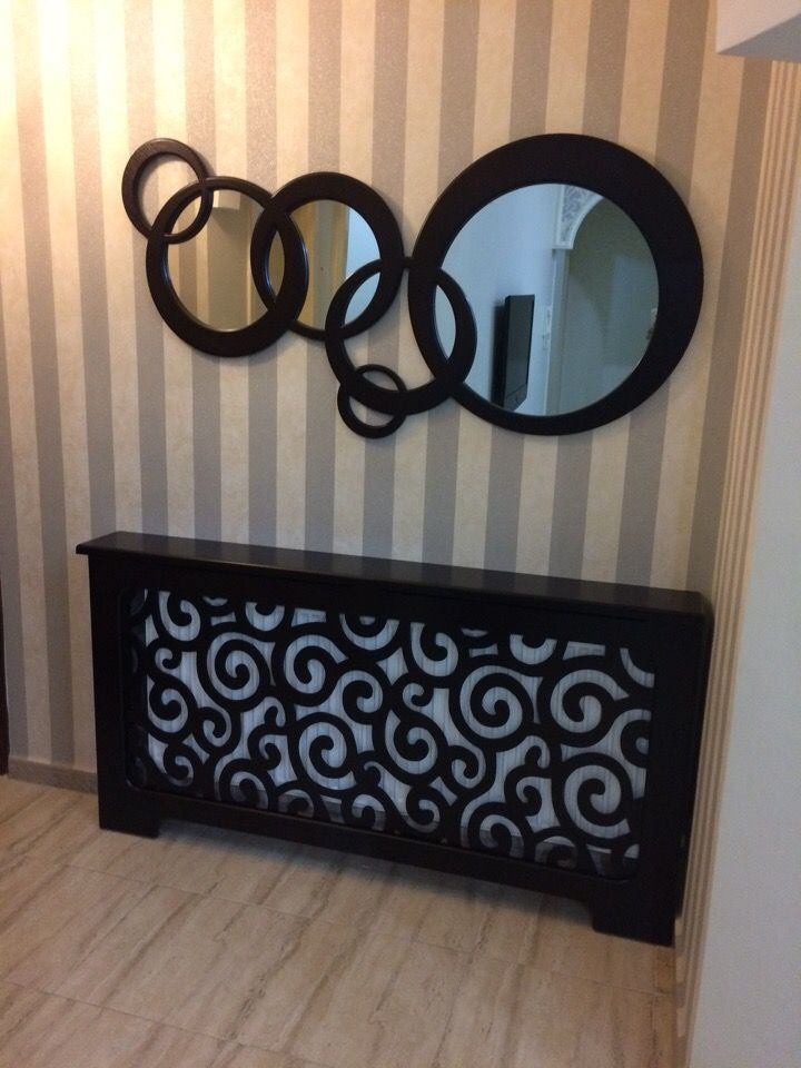 Round Wall Decor Mirror Frame Dxf File Free Download In
