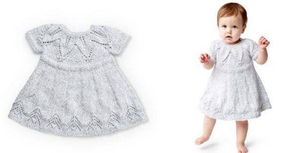 Fairy Leaves Knitted Dress FREE Knitting Pattern | Girls ...