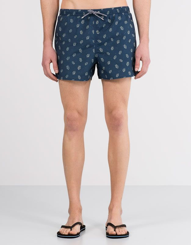 eec67f3746 LEAF PRINT SWIMSUIT - SWIMSUITS - MAN - PULL&BEAR Turkey | lookbook ...
