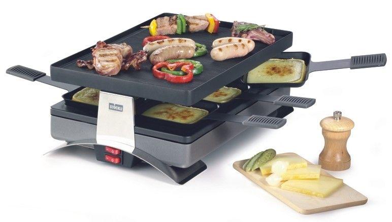 Stöckli Raclette stockli 6 person pizza raclette grill w non stick grill top