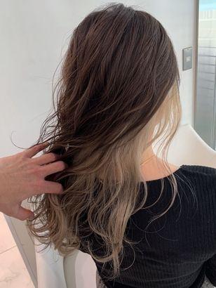 2020年春 ロング インナーカラーの髪型 ヘアアレンジ 人気順 8