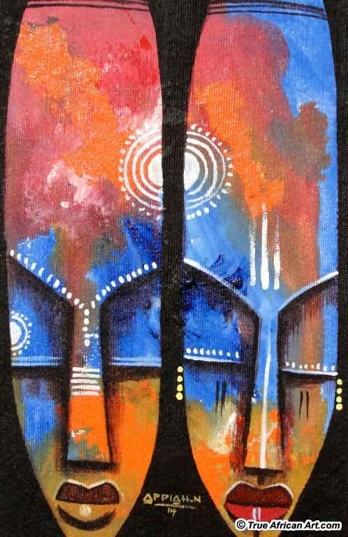 Ghanaian African Abstract Artist Appiah Ntiaw True African Art Com African Paintings Art Africa Art
