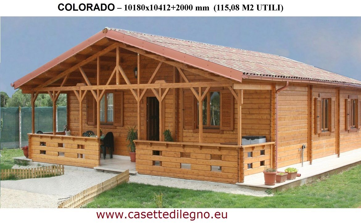 casa in legno colorado 44 casette in legno di qualit in. Black Bedroom Furniture Sets. Home Design Ideas